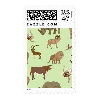 Wild animals postage