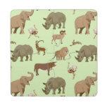 Wild animals puzzle coaster