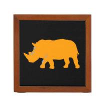 wild animals - rhino pencil holder