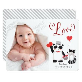 Wild Animals Valentine's Day Photo Card