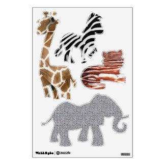 wild animal wall decals wall stickers zazzle