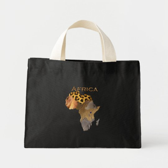 Wild Annnimal Textures Map of Africa Tote Bag