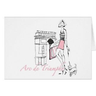 Wild Apple | Arc De Triomphe - Girly Sketch Card