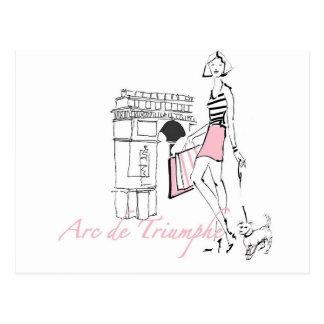 Wild Apple | Arc De Triomphe - Girly Sketch Postcard