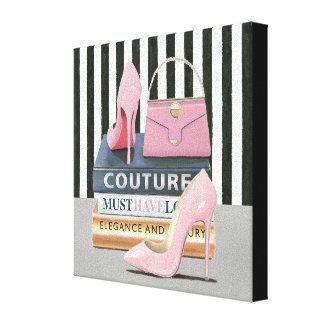 Wild Apple | Couture Stripes - Shoes & Bag Canvas Print