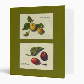 Wild Apples and Plums Color Pencil Art Realism Vinyl Binder