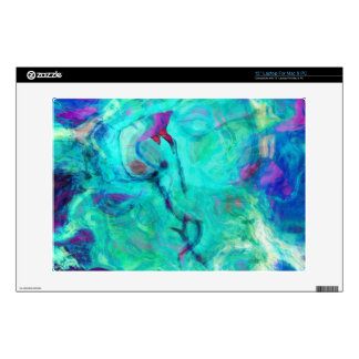 """Wild Aqua Water Abstract Art Skin For 13"""" Laptop"""