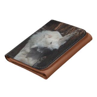 Wild Arctic Wolf Wallet