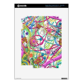 Wild art in space iPad 3 skin