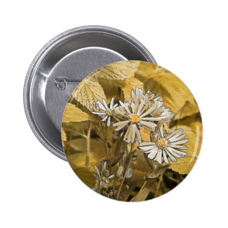 Wild Aster Digital Art Pinback Button