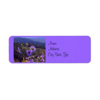 Wild Asters Address Label