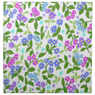 Wild Asters Floral Napkin
