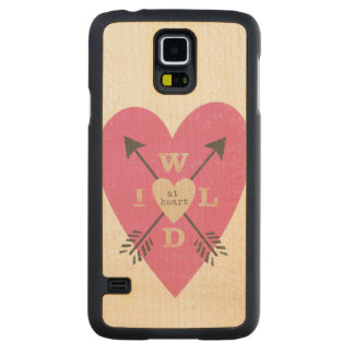 """""""Wild at Heart"""" Maple Wood Galaxy S5 Case Carved® Maple Galaxy S5 Case"""