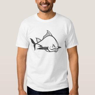 Wild Atlantic Bluefin Tuna Fish in Black and White T Shirt