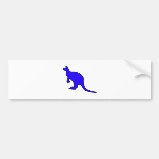 Wild Australian Kangaroo Marsupial Roo Silhouette Bumper Sticker