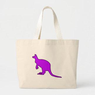 Wild Australian Kangaroo Marsupial Roo Silhouette Large Tote Bag