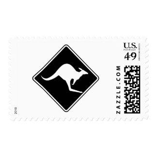 Wild Australian Kangaroo Marsupial Roo Silhouette Stamps