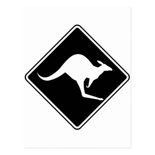 Wild Australian Kangaroo Marsupial Roo Silhouette Post Cards