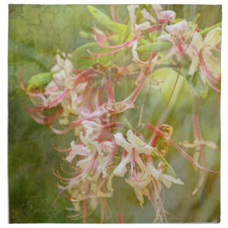 Wild Azalea Blossoms = Springtime Cloth Napkin