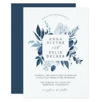 Wild Azure Frame Wedding Invitation