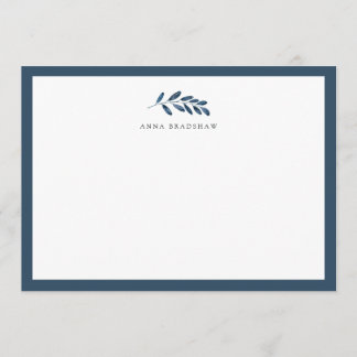 Wild Azure Personalized Stationery Flat Card
