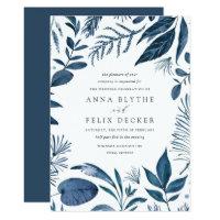 Wild Azure Wedding Invitation