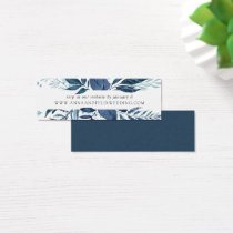 Wild Azure Wedding Website Cards | Mini