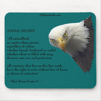 Wild Bald Eagle Collection Mouse Pad