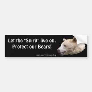 Wild Bear Animal-lovers Wildlife Gift Car Bumper Sticker