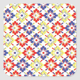 Wild Beauty Flower Collection Square Sticker
