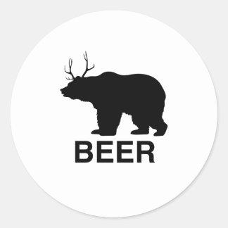 Wild Beer Classic Round Sticker