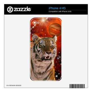 Wild Bengal Tiger Wildlife-lover Device Skin Decal For The iPhone 4S