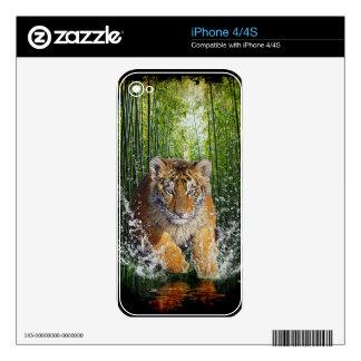 Wild Bengal Tiger Wildlife-lover Device Skin iPhone 4S Skins