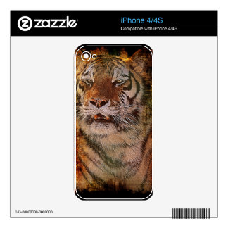 Wild Bengal Tiger Wildlife-lover Device Skin Skins For iPhone 4