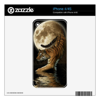 Wild Bengal Tiger Wildlife-lover Device Skin Skins For iPhone 4S
