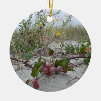 Wild Berries on the Beach Ceramic Ornament