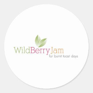 Wild Berry Jam Classic Round Sticker