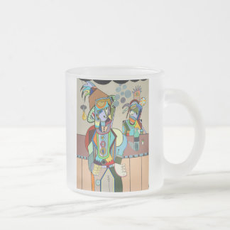 """Wild Bill"" by Ruchell Alexander Frosted Glass Coffee Mug"
