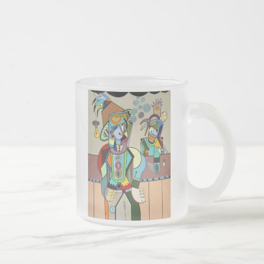 """""""Wild Bill"""" by Ruchell Alexander Frosted Glass Coffee Mug"""