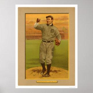 Wild Bill Donovan Tigers Baseball 1911 Print