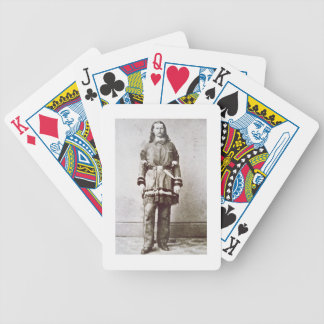 'Wild Bill' Hickok (1837-76) (b/w photo) Bicycle Playing Cards