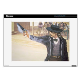 "'Wild Bill' Hickok (1837-76) demonstrates his mark 15"" Laptop Decal"