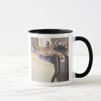 'Wild Bill' Hickok (1837-76) demonstrates his mark Mug