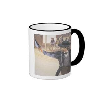 'Wild Bill' Hickok (1837-76) demonstrates his mark Ringer Coffee Mug