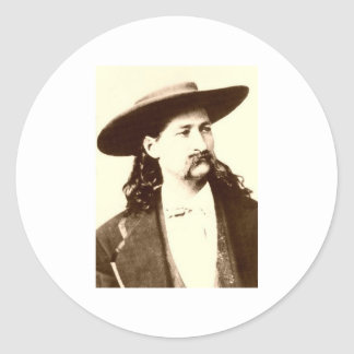 WILD BILL HICKOK CLASSIC ROUND STICKER