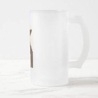 WILD BILL HICKOK FROSTED GLASS BEER MUG