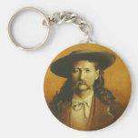 Wild Bill Hickok Illustration Keychain