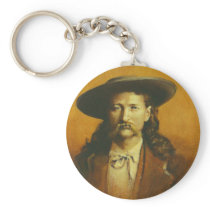 Wild Bill Hickok Illustration Keychain