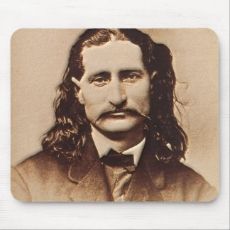 Wild Bill Hickok Painting Portrait Mouse Pad