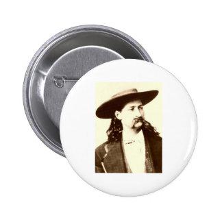 WILD BILL HICKOK PIN REDONDO 5 CM